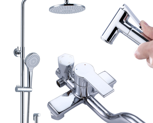 Lightweight, Handheld Shower and Shower Head Combo Kit with Chrome Finish