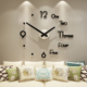 Self Adhesive Acrylic DIY Creative Wall Decoration Clock for All Interiors