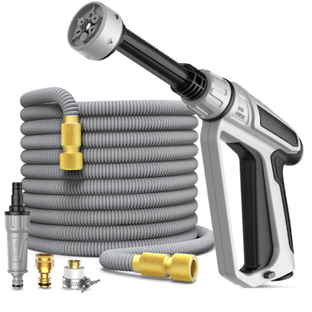 Expandable 50ft Garden Hose with Spray Nozzle