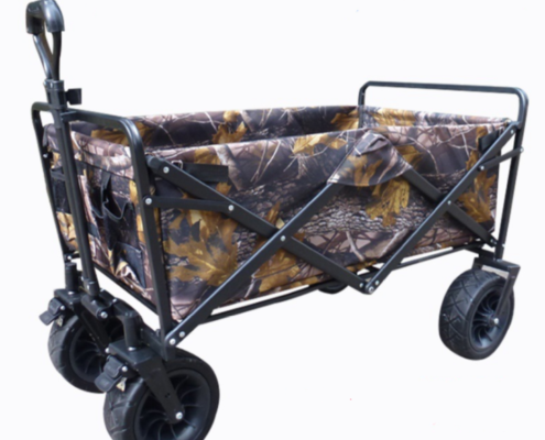 Folding Utility Wagon (Outdoor) with Heavy Duty Wheels